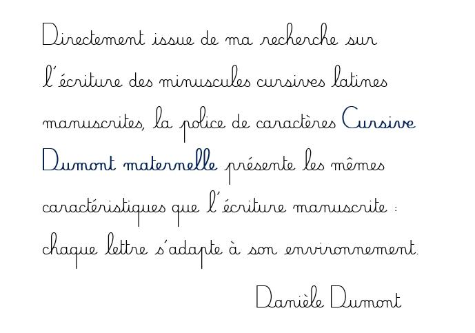 police cursive dumont